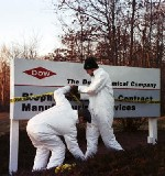 Enacting a quarantine at Dow's Smithfield, Rhode Island facility, in 2003