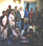 With survivors in Bhopal, in 2004