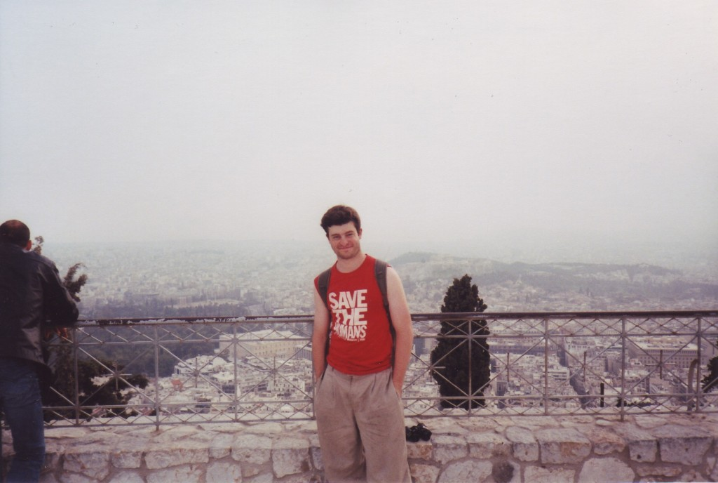 On the tallest hill in Athens, Lykavittos.